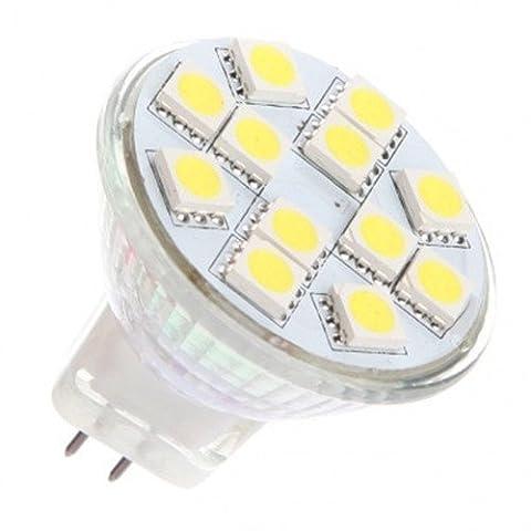 Gu4 Bi Pin Fitting Lamp Base 5050 Cluster Led Light Bulb Ac Dc 12V 24V 2-Pin Replacement for 10W MR11 Halogen Spot Lamp Bulbs of Home Accent Lighting & Vehicle Interior Lightings, Cool White, 3W