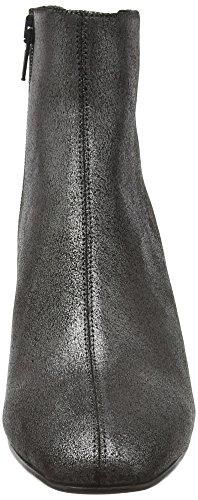 Hudson London Damen Rosetta Suede Kurzschaft Stiefel Silberfarben