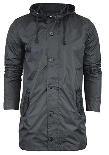 Mens Lightweight Jacket by Brave Soul 'Baker' Hooded Shower Proof Rain Mac S-XL