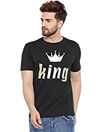 The Dry State Men's Round Neck Half Sleeves Printed Cotton T-Shirt B216-$P