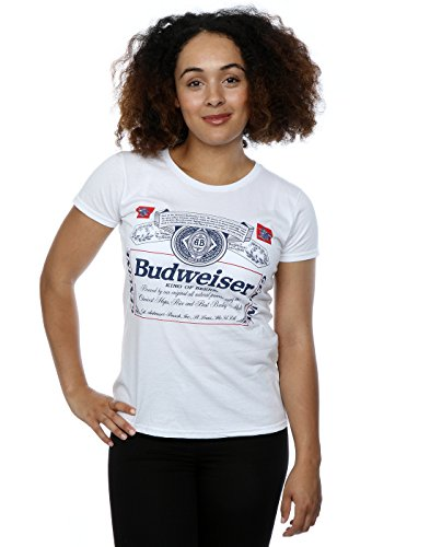 budweiser-femme-label-outline-t-shirt-xx-large-blanc