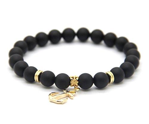 GOODdesigns-Perlen-Armband-aus-Howltih-Onyx-Natursteinen-mit-Anker-Charm-Anhnger-in-Gold