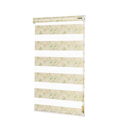 GX&XD Estores Franjas Verticales,Doble Capa Suave Cortina del Hilado Persianas venecianas para Windows para Cuarto de baño Dormitorio Sala de Estar Impermeable Persianas-A 80x120cm(31x47inch)