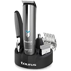 Taurus Hipnos Power - Barbero con cuatro cabezales intercambiables, color gris