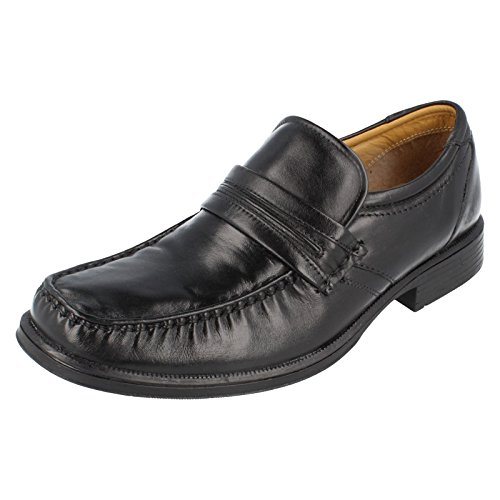 Da uomo Clarks antiscivolo su scarpe formali gancio lavoro, nero (Black), 41