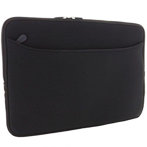 XiRRiX Neopren Tasche Schutzhülle universal bis 31,1x22,6 cm für Microsoft Surface Laptop / Seitentasche für Zubehör / Hülle Sleeve schwarz