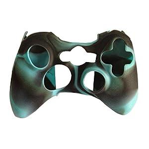 OSTENT Camouflage weichen Silikon Skin Case Cover Tasche kompatibel für Microsoft Xbox 360 Controller – Farbe Ice Blue