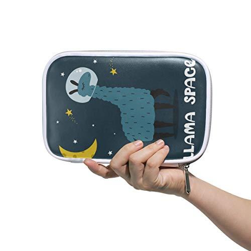 ISAOA Große Kapazität Multifunktions-Mäppchen für Schule, Llama Space Stabile Schreibwaren, Federmäppchen Kosmetiktasche für Stifte, Make-up, Pinsel, Notizbuch - Office Space Kit