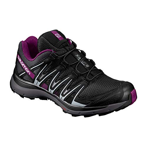 Salomon Xa Lite W Scarpe da Trail Running Donna, Nero (Black/Magnet/Grape Juice) 38 2/3 EU