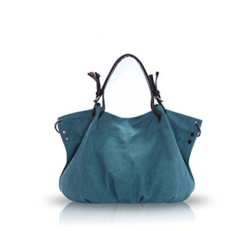 Nicole&Doris 2017 nuovo retro sacchetto di grande spalla Signore / Donne / Borsa donna Mobile Messenger borsa di tela(Brown) blu