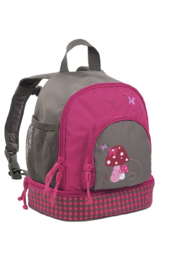 Mini Backpack Kinderrucksack Kindergartentasche, Brotdosenfach unten, Mushroom magenta Pink