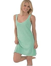 Damen Nachthemd,Kurzarm,100% BAUMWOLLE