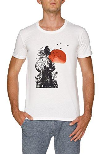 Alans Kater Herren Weiß T-Shirt Größe XXL | Men's White T-Shirt Size ()