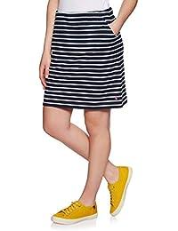 e4077def15 Joules Womens Portia Jersey Skirt - Navy Cream Stripe UK 12 Navy Cream  Stripe