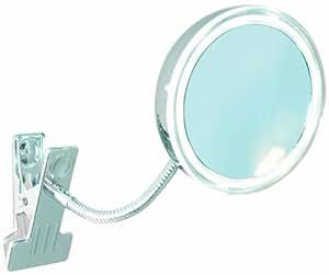 Enzo Rodi 411610 LED-Klemmspiegel Alimos / Ø 10.5 cm / chrom mit Klemme