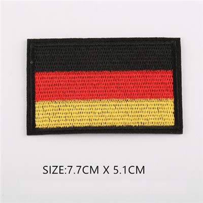 Shoppy Star 1 PC billig Stoff Patch World Land China USA Russland Farbe Flagge Patch Aufnäher Kleidung Armband Rucksack Aufkleber DIY Zubehör -