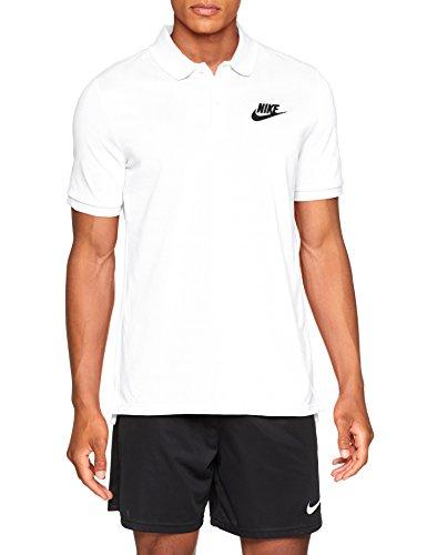 Nike Herren Sportswear Polo Shirt, White/Black, S Preisvergleich
