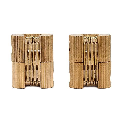 Hilitand Fass-Scharnier, 2pcs 180 ° Tür-hydraulisches Scharnier Kupfer-Fass-Scharniere zylinderförmiges Kabinett verborgenes Tür-Scharnier für Möbel-Hardware (Kabinett-scharnier-hardware)