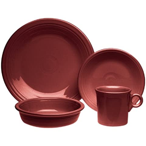 Fiesta 4-Piece Place Setting, Cinnabar by Homer (Homer Laughlin Wells)