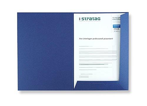 Präsentationsmappe A4 in königsblau 100 Stück (wählbar) // erhältlich in 7 Farben // direkt vom Hersteller STRATAG® // vielseitig einsetzbar für Ihre Angebote, Exposés, Projekte oder Geschäftsberichte (Blaue Präsentationsmappen)