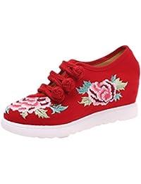 Insun Zapatos para mujer diseño bordado Alpargatas para mujer Mary Jane