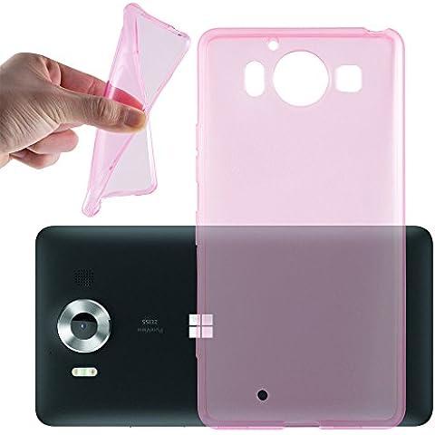 Cadorabo - Custodia silicone TPU per Nokia Lumia 950 XL super sottile 'AIR' Design - Case Cover Involucro Bumper in ROSA-TRANSPARENTE