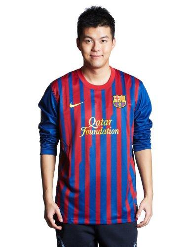 Camiseta para hombre FC Barcelona manga larga camiseta de Nike. el hogar de los Catalanes de el bienestar mejor equipo del mundo-Dispone de un logotipo de Liga LFP en la manga debajo en la parte posterior se encuentra el UNICEF logotipo del patroci...