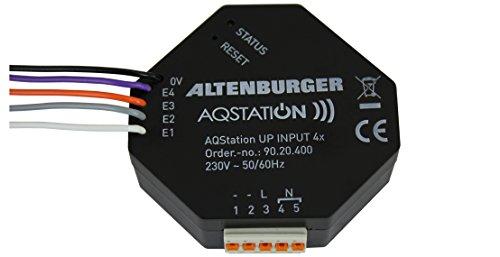 aqstation Wi-Fi Up Input a 4moduli binario controllo ingressi/Universal interfacce per installazione a incasso in scatola dell' elettronica, 1pezzi, 90.20.400