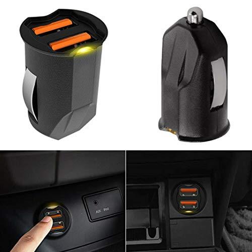 FM-Transmitter für Auto, 2,1 A Mini Dual USB Handy Auto Ladegerät Feuerzeug Power Adapter - Schwarz