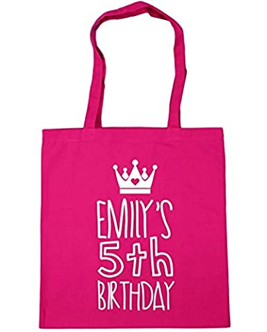 HippoWarehouse Personalized birthday girl name age Tote Shopping Gym Beach