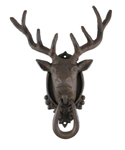 Antik Finish 8POINT Buck Deer Türklopfer