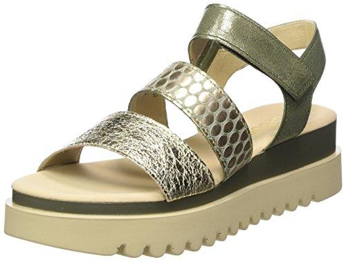 Gabor Shoes Damen Jollys Riemchensandalen, Mehrfarbig (Platino/Oliv), 40.5 EU