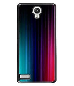 FUSON Designer Back Case Cover for Xiaomi Redmi Note 4G::Xiaomi Redmi Note :: :: Xiaomi Redmi Note Prime (Multi Colour Lines Pattern With Love Peace Crazy)