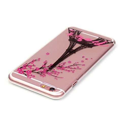 Cozy Hut ® für iPhone 6 Plus / 6S Plus (5,5 Zoll), Schutzhülle / Case / Cover / Hülle / TPU Gel Skin Colorful Pattern Bunte Muster Kunststoff Serie für iPhone 6 Plus / 6S Plus (5,5 Zoll) Hülle Beutel  Plum Turm