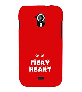 EPICCASE fiery heart Mobile Back Case Cover For Micromax A116 Canvas HD (Designer Case)
