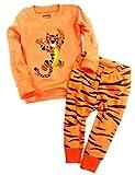 Babygp 2 Stücke Anzug der Schlafanzüge von Mädchen und Jungen mit 100% Baumwolle (110(Herstellergröße:4Jahre), Tiger)
