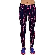 HARRYSTORE Mujer Pantalones elásticos de yoga de Impreso en 3D Mujer Pantalones deportivas de alta cintura Fitness Leggings polainas