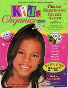 Africas Best Organics Kids Masques de Relaxer Système 2 Complete Kits grossier