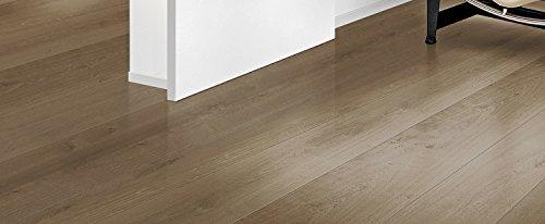 Selbstklebender Vinylboden Designboden Hellgrau, Weiß