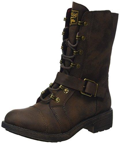 New Womens Rocket Dog Sadler Biker Boots Chocolate Brown Size 7