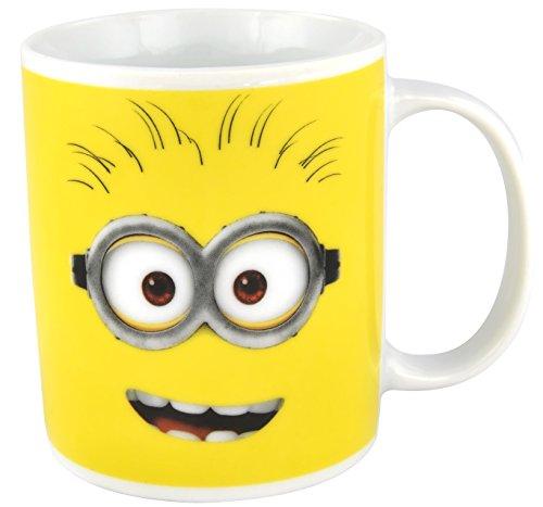 Deux minions tasse avec visages : stuart et de bob, jaune, 320 ml