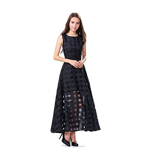 years-calm-vestito-linea-ad-a-senza-maniche-donna-black-38