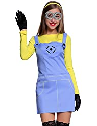 Erwachsene Cosplay Minions Minion Kostuem Despicable Me Fancy Dress Damenkostuem Overall f Halloween Karneval Kostuem