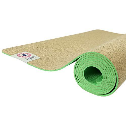 SAPURA Yogamatte Naturkautschuk & Kork 3mm ✓ rutschfest ✓ Naturgummi ✓ Sportmatte ✓ Fitnessmatte ✓ Tragegurt