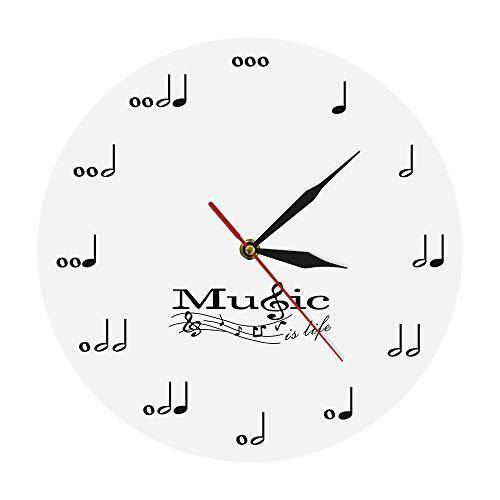 uscial Notes Modernes Design Wanduhren Acryluhren Musikthema Uhr Wanddekor Für Wohnzimmer Raum In Wohnküche Büro Schule ()