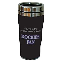 Tree-Free Greetings sg24085 Rockies Baseball Fan Sip N Go Stainless Steel Lined Travel Tumbler, 16-Ounce