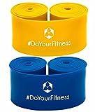 #DoYourFitness 2er Set Flossband »Herculexx« 0,9mm & 1,1mm Stärke: Kompressions- und Widerstandsband zum Umwickeln der Muskeln und Gelenke, in verschiedenen Stärken Farbe: blau/gelb