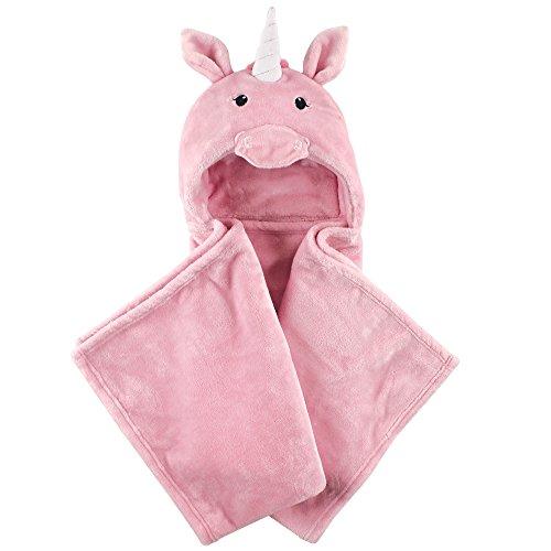 Hudson Baby Animal Face Plush Hooded Blanket, Giraffe