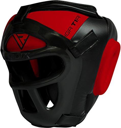 RDX Zero Impact Grill-X Leder Kopfschutz, abnehmbarer Gesichtsschutz Abbildung 3