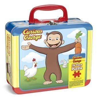 Curious George 24 Pc Puzzle Assortment (in Lunchbox Tin) by Pressman Toy